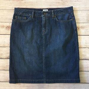 3/$20 L.L. Bean Favorite Fit Denim Jean Skirt 10